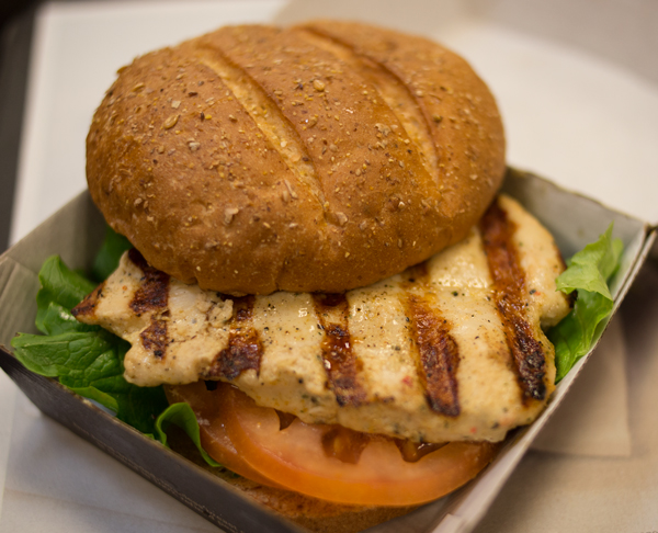 CFA - chargrilled chicken sandwich