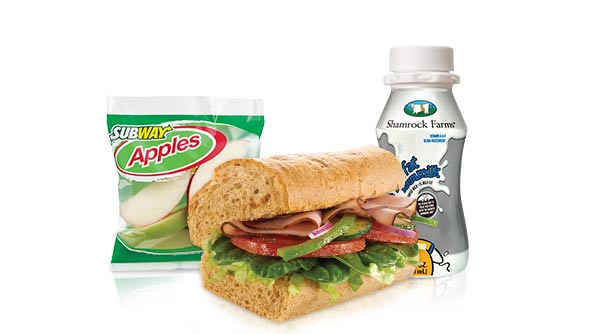 Subway Black Forest Ham Meal
