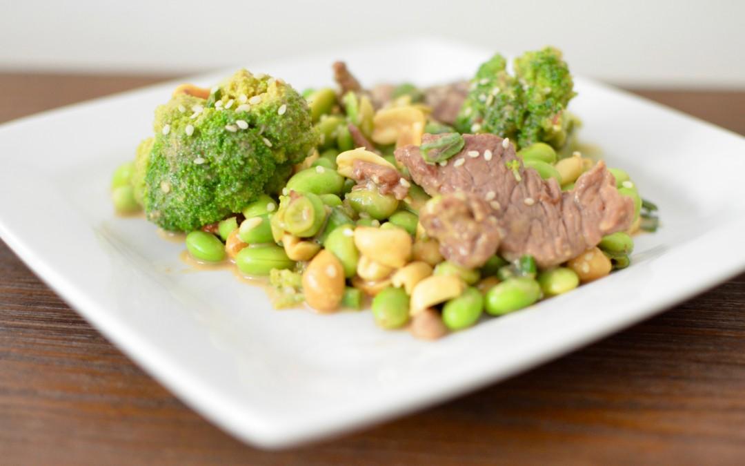 Edamame and Beef Asian Salad
