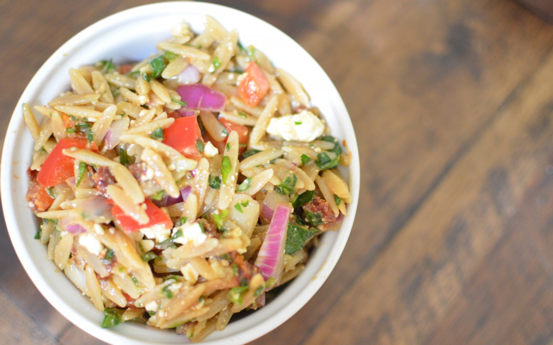 Veggie Loaded Orzo Salad