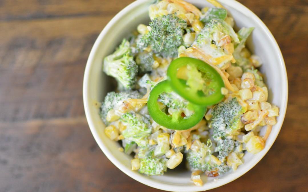 Healthy Jalapeno Popper Corn Salad