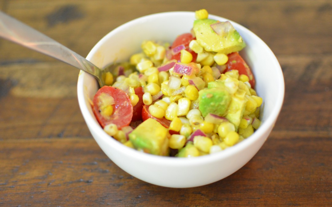 Grilled Corn with Tomato and Avocado