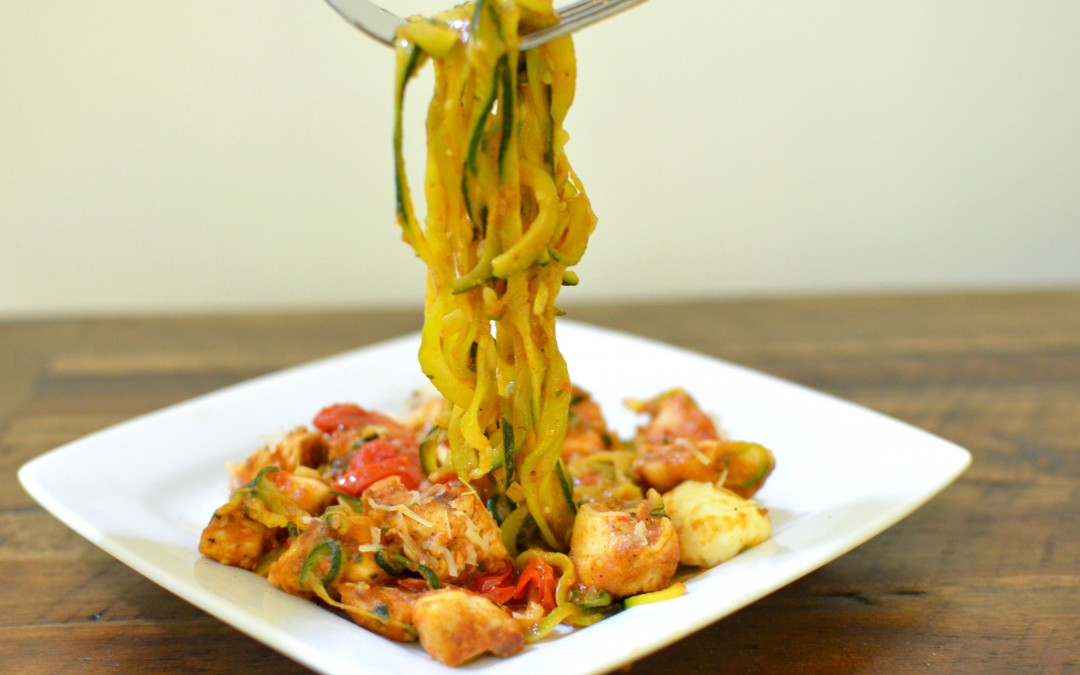 Caprese Zoodles with Chicken