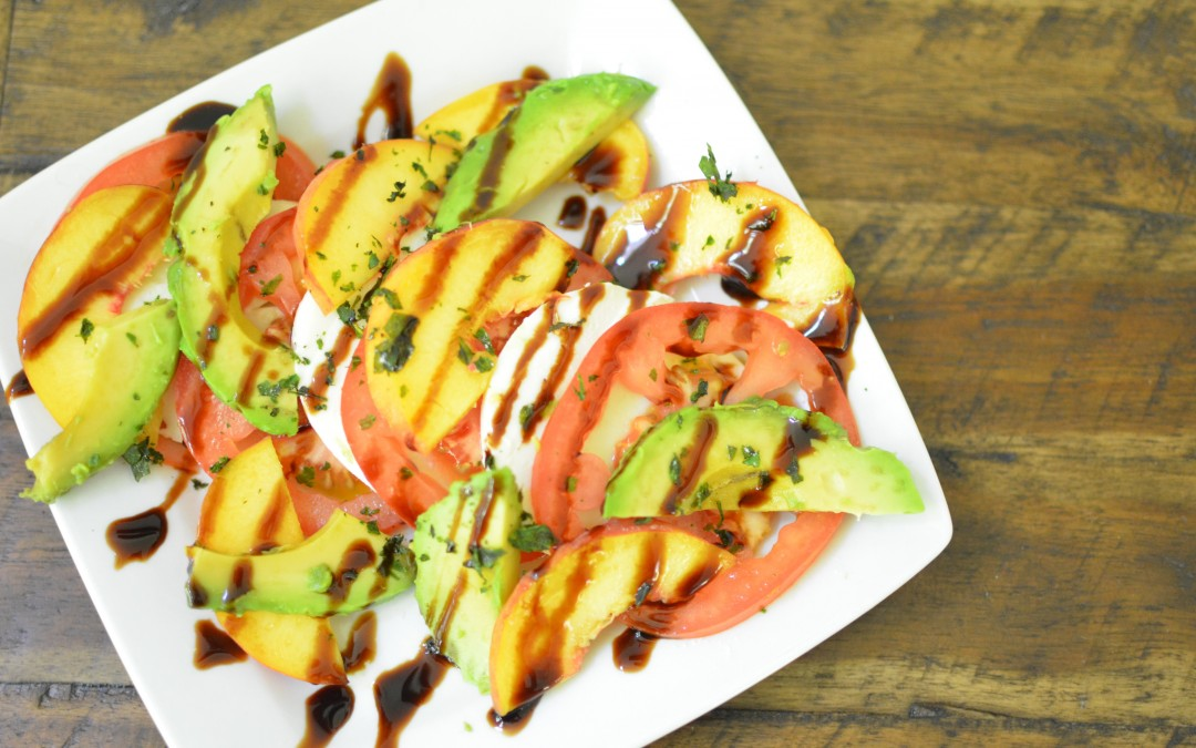 Caprese Salad with Peaches and Avocado