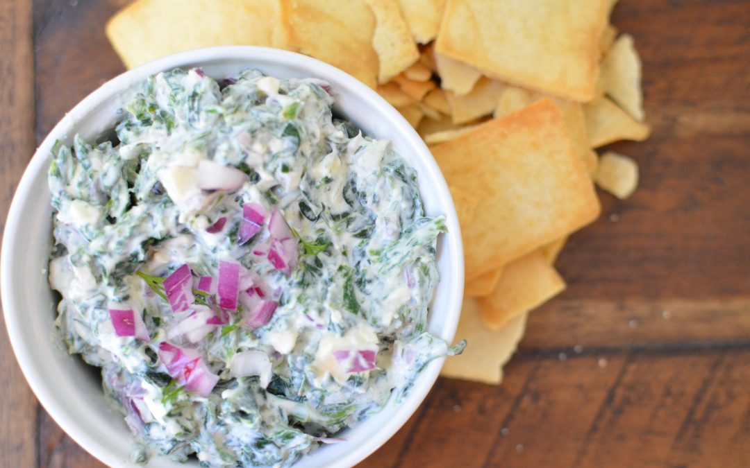 Red Onion Spinach Dip
