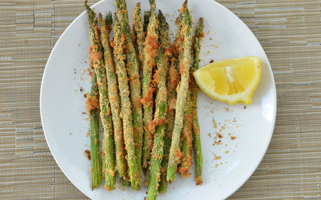 Baked Parmesan Asparagus with Breadcrumbs