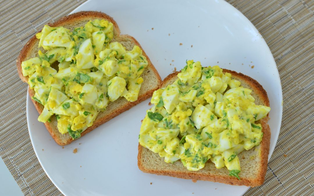 Egg Salad with Spinach